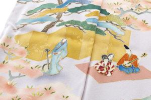 染繍工芸大羊居製 訪問着地「遊楽図」のサブ7画像