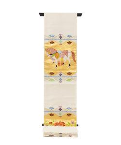 龍村平蔵製 袋帯「天竺祭馬錦」のメイン画像