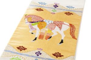 龍村平蔵製 袋帯「天竺祭馬錦」のサブ1画像