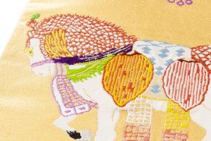 龍村平蔵製 袋帯「天竺祭馬錦」のサブ2画像