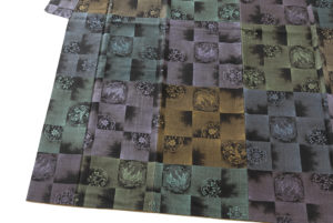 大島紬 着物「正倉院市松」のサブ2画像