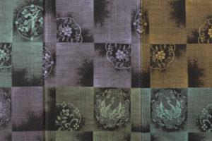 大島紬 着物「正倉院市松」のサブ4画像