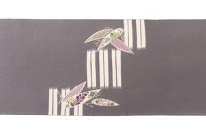 工芸きもの野口製 名古屋帯地「竹に笹取形」のサブ4画像