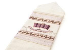 吉岡幸雄作 帝王紫染紬名古屋帯「ファラオの船」のサブ1画像