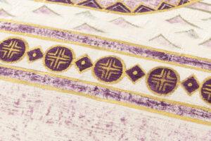 吉岡幸雄作 帝王紫染紬名古屋帯「ファラオの船」のサブ2画像