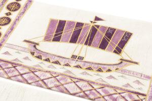 吉岡幸雄作 帝王紫染紬名古屋帯「ファラオの船」のサブ3画像