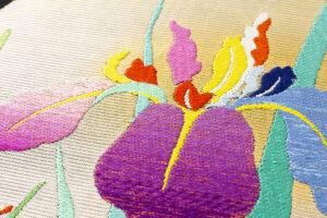 龍村平蔵製 夏袋帯「かきつばた」のサブ2画像