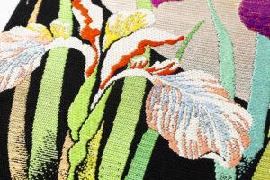 龍村平蔵製 夏袋帯「かきつばた」のサブ3画像