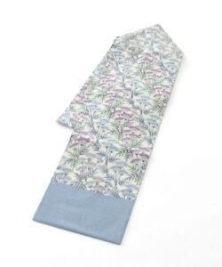 日本工芸会正会員 釜我敏子作 型絵染名古屋帯「沢芹紋」のメイン画像