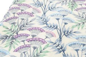 日本工芸会正会員 釜我敏子作 型絵染名古屋帯「沢芹紋」のサブ2画像