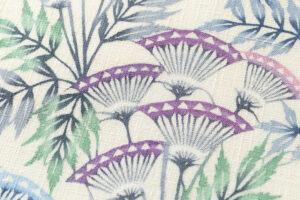 日本工芸会正会員 釜我敏子作 型絵染名古屋帯「沢芹紋」のサブ3画像