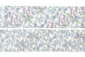 日本工芸会正会員 釜我敏子作 型絵染名古屋帯「沢芹紋」のサブ4画像