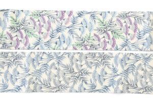 日本工芸会正会員 釜我敏子作 型絵染名古屋帯「沢芹紋」のサブ5画像