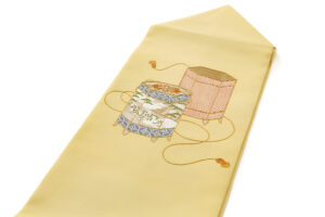ぎをん齋藤製 塩瀬名古屋帯「貝桶」のサブ1画像